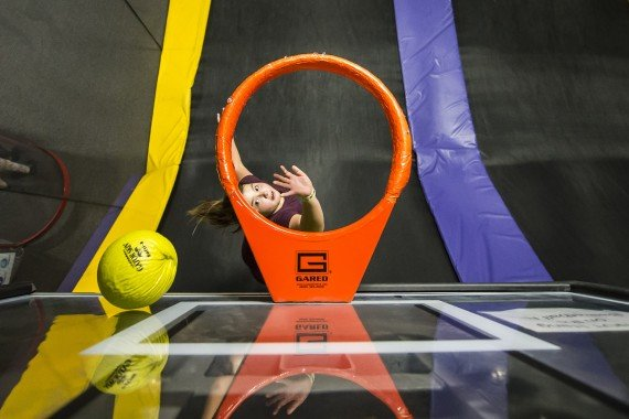 basketball games at trampoline park