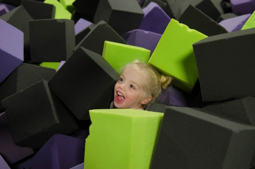 foam pit during kid's time